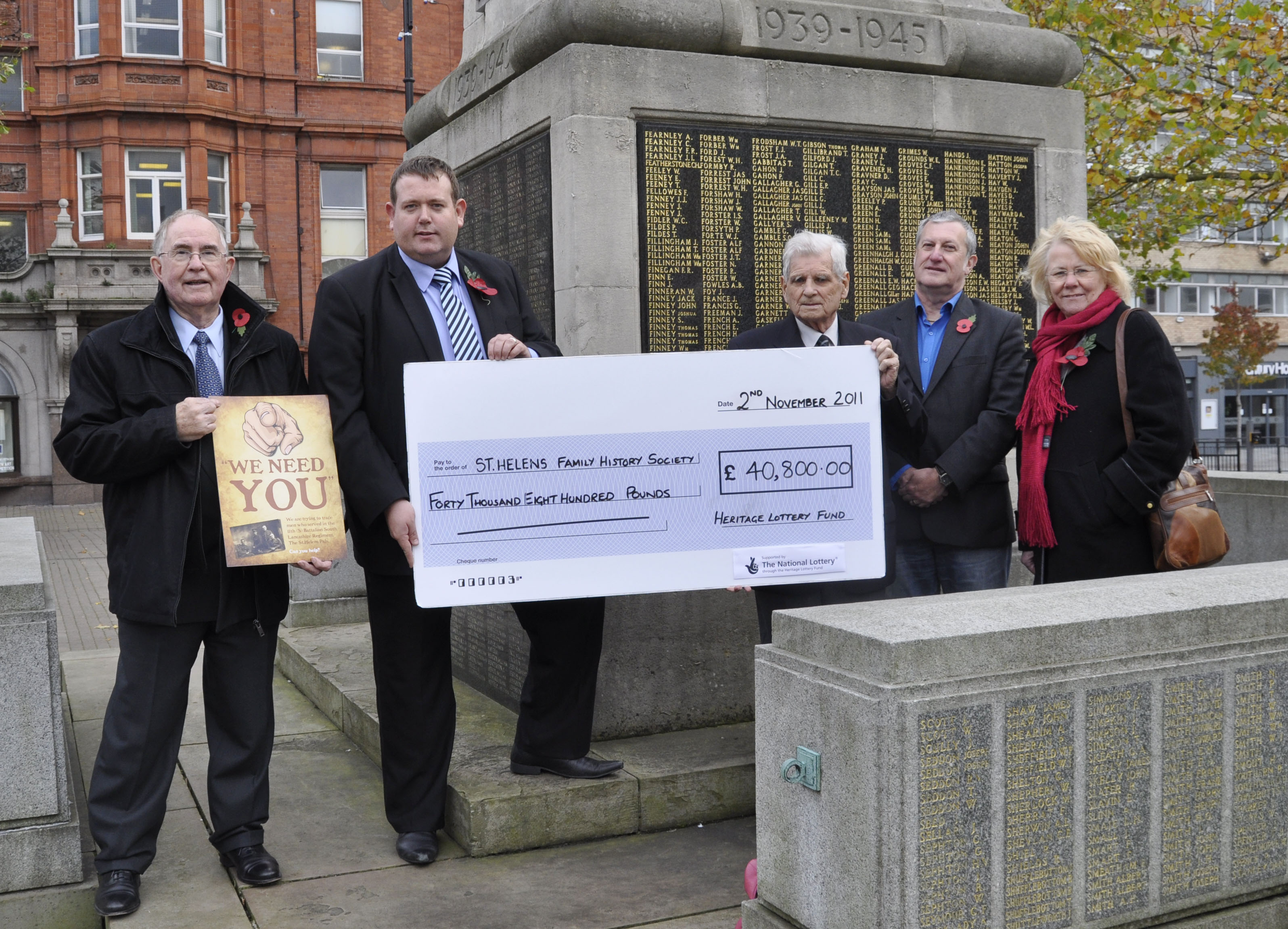 Awarded a £40,800 grant from the Heritage Lottery Fund